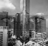 Augen in der Großstadt